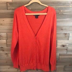 ⭐️ Lane Bryant Orange Cardigan Size 18/20 ⭐️